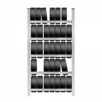 Reifenregal mit 5 Ebenen, Steckmontage, HxBxT 3000 x 1580 x 425 mm, verzinkt