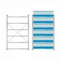 Ordnerregal, Stecksystem, HxBxT 2000 x 1270 x 315 mm, 6 Regalböden