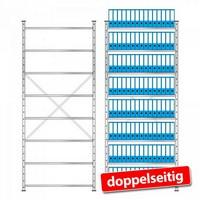 Erweiterbares Ordnerregal mit Platz für 240 breite DIN A4-Ordner