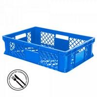 Bäckerkiste 600 x 400 x 150 mm, 27 Liter, blau, 4 Durchfaßgriffe