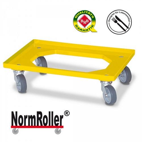 BRB NormRoller® Lastenroller für Stapelkästen im Euro-Format 600 x 400 mm / 400 x 300 mm, Tragkraft 250 kg