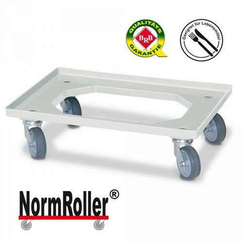 BRB NormRoller® Lastenroller für Stapelkästen im Euro-Format 600 x 400 mm / 400 x 300 mm