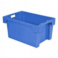 "Drehstapelbehälter ED64300SC ""Classic"", LxBxH 600 x 400 x 300 mm, 50 Liter, blau"