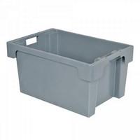 "Drehstapelbehälter ED64300SC ""Classic"", LxBxH 600 x 400 x 300 mm, 50 Liter, grau"