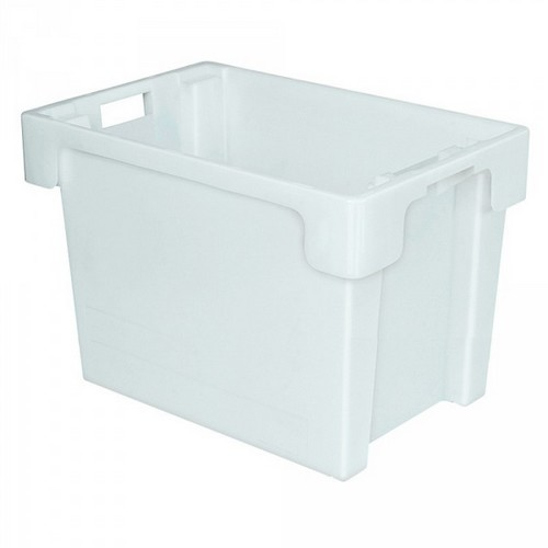 "Drehstapelbehälter ED64400SC ""Classic"", LxBxH 600 x 400 x 400 mm, 70 Liter, weiß"