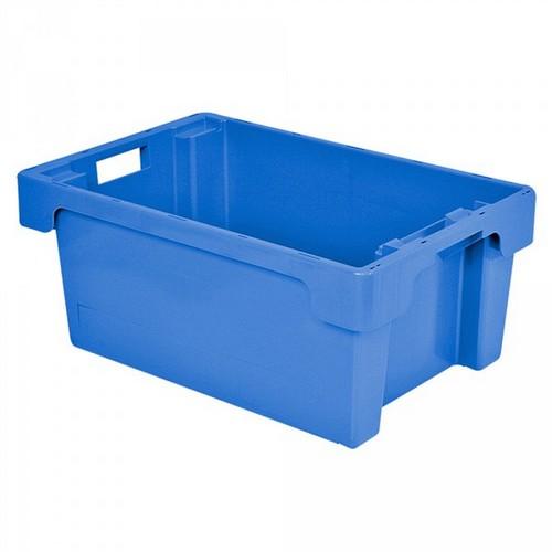 "Drehstapelbehälter ED64200SC ""Classic"", LxBxH 600 x 400 x 200 mm, 32 Liter, blau"