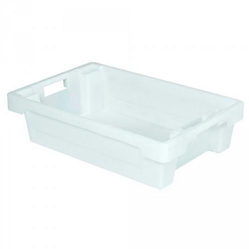 "Drehstapelbehälter ED64150SC ""Classic"", LxBxH 600 x 400 x 150 mm, 25 Liter, weiß"