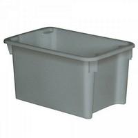 Drehstapelbehälter im Euro-Format, Boden und Wände geschlossen,600 x 400 x 325 mm, Inhalt 50 Liter, Farbe: grau
