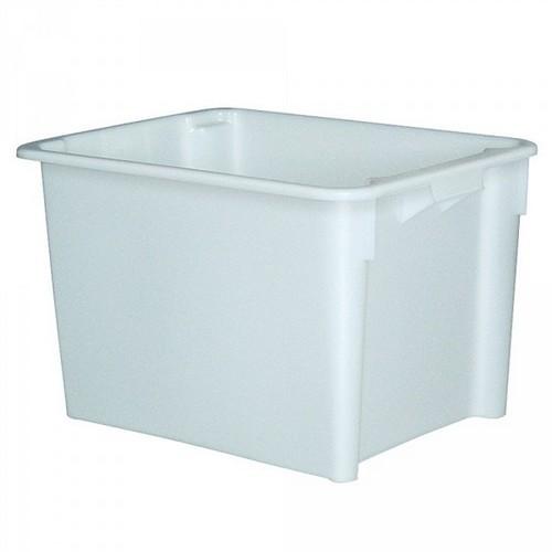 Drehstapelbehälter im Euro-Format, Boden und Wände geschlossen, 800 x 600 x 505 mm, Inhalt 170 Liter, Farbe: weiß