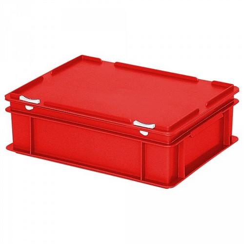 Euro-Deckelbehälter, 400x300x130 mm, rot