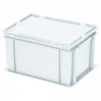 Versandbehälter mit Deckel, Euro-Format, 400 x 300 x 230 mm, 21 Liter
