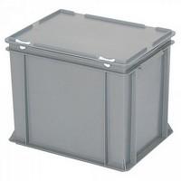 Versandbehälter mit Deckel, Euro-Format, 400 x 300 x 330 mm, 31 Liter