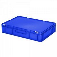 Versandbehälter mit Deckel, Euro-Format, 600 x 400 x 130 mm, 23 Liter