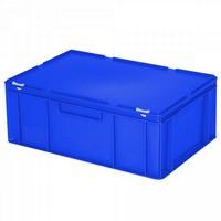 Versandbehälter mit Deckel, Euro-Format, 600 x 400 x 230 mm, 43 Liter