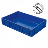 Eurobehälter EC64120SCG, geschlossen, LxBxH 600 x 400 x 120 mm, 23 Liter, blau