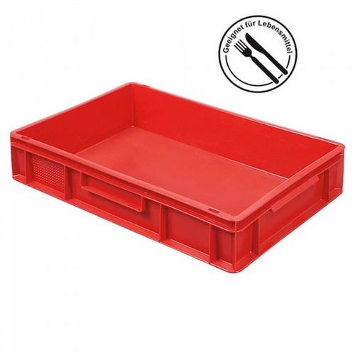 Eurobehälter EC64120SCG, geschlossen, LxBxH 600 x 400 x 120 mm, 23 Liter, rot