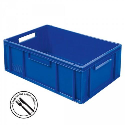 Eurobehälter EC64220SC, geschlossen, LxBxH 600 x 400 x 220 mm, 43 Liter, blau