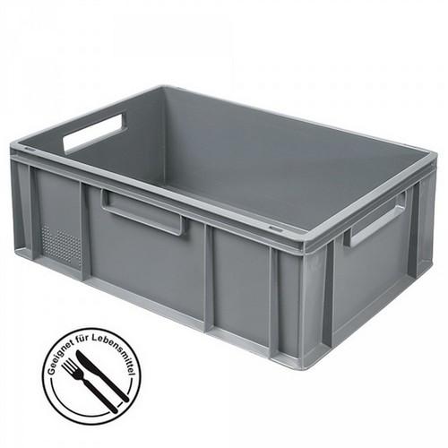 Eurobehälter EC64220SC, geschlossen, LxBxH 600 x 400 x 220 mm, 43 Liter, grau