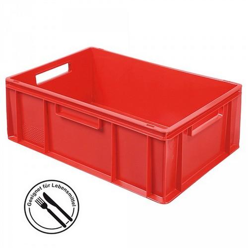Eurobehälter EC64220SC, geschlossen, LxBxH 600 x 400 x 220 mm, 43 Liter, rot