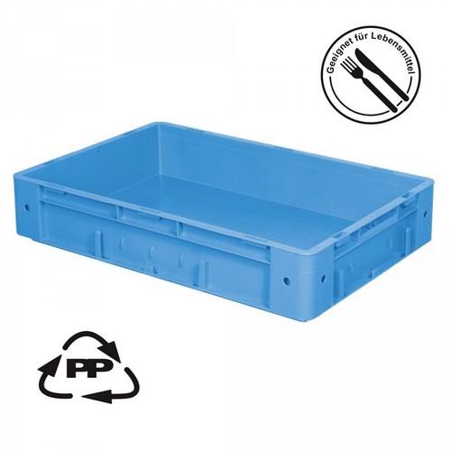 Eurobehälter EC64120SCG, Polypropylen-Kunststoff (PP), geschlossen, rollenbahngeeignet, für schwere Lasten, LxBxH 600 x 400 x 120 mm, 20 Liter, blau