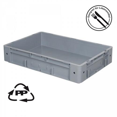 Eurobehälter EC64120SCG, Polypropylen-Kunststoff (PP), geschlossen, rollenbahngeeignet, für schwere Lasten, LxBxH 600 x 400 x 120 mm, 20 Liter, grau