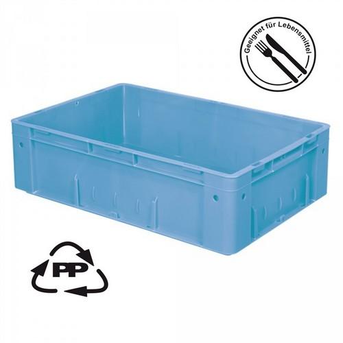 Eurobehälter EC64175SCG, Polypropylen-Kunststoff (PP), geschlossen, rollenbahngeeignet, für schwere Lasten, LxBxH 600 x 400 x 175 mm, 31 Liter, blau