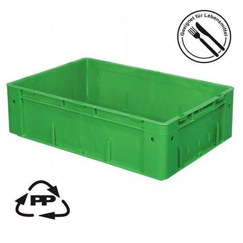 Eurobehälter EC64175SCG, Polypropylen-Kunststoff (PP), geschlossen, rollenbahngeeignet, für schwere Lasten, LxBxH 600 x 400 x 175 mm, 31 Liter, grün