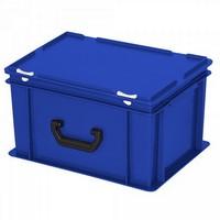Euro-Koffer, stapelbar, LxBxH 400 x 300 x 230 mm, 21 Liter, weiß, 1 Tragegriff