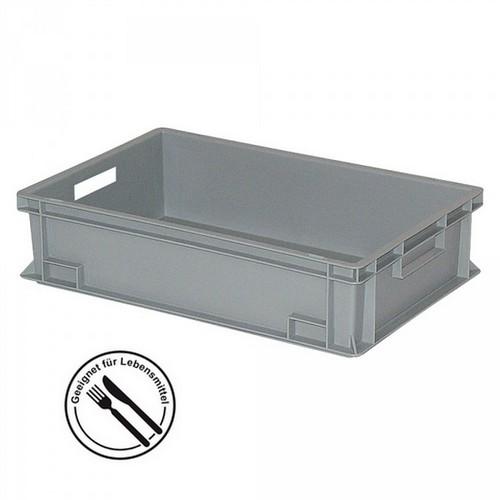 Eurobehälter EC64150SC, geschlossen, glatter Boden, LxBxH 600 x 400 x 150 mm, 27 Liter, grau