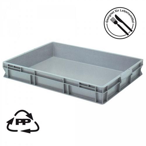 Eurobehälter EC86120SCG, geschlossen, Polypropylen-Kunststoff (PP), lebensmittelecht, LxBxH 800 x 600 x 120 mm, 45 Liter, grau