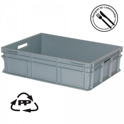 Eurobehälter EC86220SC, geschlossen, Polypropylen-Kunststoff (PP), lebensmittelecht, LxBxH 800 x 600 x 220 mm, 87 Liter, grau