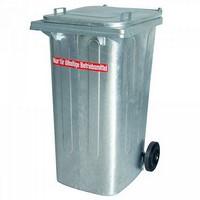 Mülltonne 240 Liter aus feuerverzinktem Stahl, öldicht