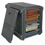 Thermobox für GN-Behälter / Tabletts, anthrazit, EPP, mit Fronteinschub und ..
