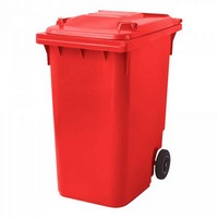 Rote Mülltonne 360 Liter