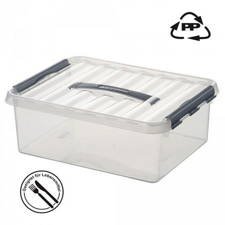 Stapelbare Klarsichtbox mit Deckel, lebensmittelecht, 400 x 300 x 180 mm, 15 Liter
