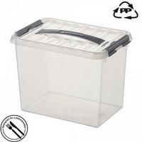 Stapelbare Klarsichtbox mit Deckel, lebensmittelecht, 400 x 300 x 260 mm, 22 Liter