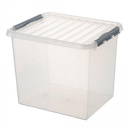 Stapelbare Klarsichtbox mit Deckel, lebensmittelecht, 500 x 400 x 380 mm, 52 Liter