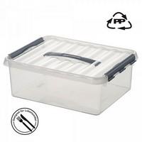 Stapelbare Klarsichtbox mit Deckel, lebensmittelecht, 600 x 400 x 340 mm, 62 Liter