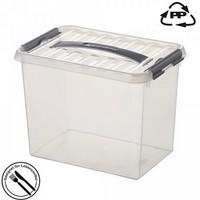 Stapelbare Klarsichtbox mit Deckel, lebensmittelecht, 600 x 400 x 420 mm, 72 Liter