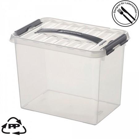 Stapelbare Klarsichtbox mit Deckel, lebensmittelecht, 300 x 200 x 220 mm, 9 Liter