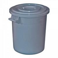 Kunststofftonne 35 Liter, Ø oben/unten 390/315 mm, H 415 mm, Polyethylen-Kunststoff (PE-HD), grau