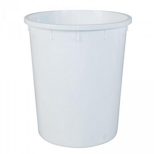 Kunststofftonne 150 Liter, Ø oben/unten 615/490 mm, H 705 mm, Polyethylen-Kunststoff (PE-HD), weiß