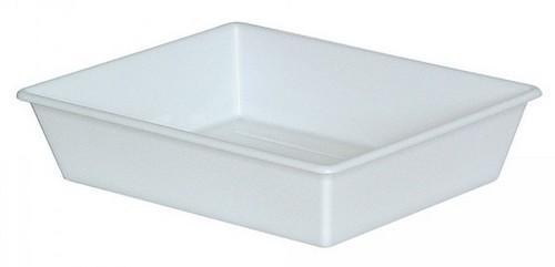 Laborwanne, Größe 2, weiß, Inhalt 1,1 Liter, LxBxH 305/250 x 245/195 x 65 mm