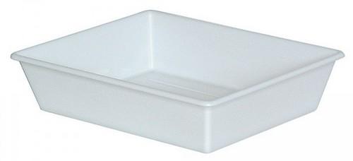 Laborwanne, Größe 5, weiß, Inhalt 12,4 Liter, LxBxH 625/525 x 525/430 x 140 mm