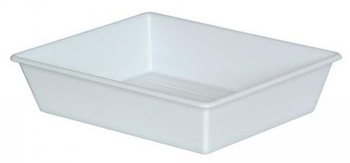 Laborwanne, Größe 3, weiß, Inhalt 2,4 Liter, LxBxH 365/310 x 305/250 x 75 mm