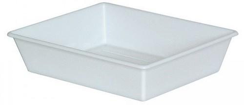 Laborwanne, Größe 6, weiß, Inhalt 26,5 Liter, LxBxH 840/715 x 645/520 x 155 mm