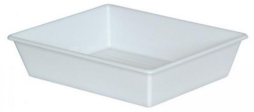 Laborwanne, Größe 4, weiß, Inhalt 6,2 Liter, LxBxH 510/425 x 415/325 x 115 mm