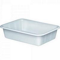 Lebensmittelwanne PE-HD Kunststoff, weiß, 25 Liter