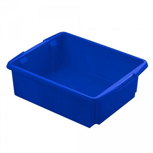 Drehstapelbehälter, leichte Ausführung, lebensmittelecht Inhalt 17 Liter, LxBxH 455 x 360 x 145 mm, Polypropylen (PP), blau