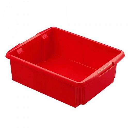 Drehstapelbehälter, leichte Ausführung, lebensmittelecht Inhalt 17 Liter, LxBxH 455 x 360 x 145 mm, Polypropylen (PP), rot